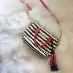 Betsey Johnson Striped Cross-body Bag